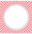 Classic tablecloth gingham background vector image