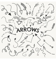 Set of Black Hand Drawn Arrow Shaped vector image