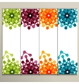 abstract color pattern on banner background vector image