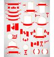 Canadian flag decoration elements vector image