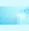 global network connecting on blue background vector image