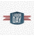 Labor Day realistic paper Label vector image