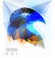Ladybird polygonal vector image