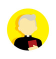 old religious pastor people graphic vector image