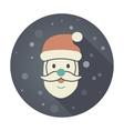 Santa Claus face Christmas icon vector image