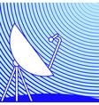 Satellite dish vector image