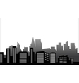 Silhouette of just a building vector image