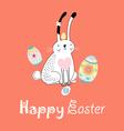 stok vektor long eared rabbit vector image