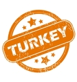 Turkey grunge icon vector image