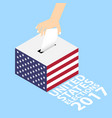 united states elections 2017 vector image