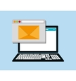 web messaging through computer image vector image