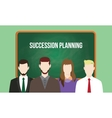 succession planning concept in a team vector image