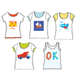 T-shirts design for kids with toys vector image vector image