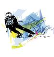 Skiing sketch vector image