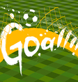 soccer design over green background vector image vector image