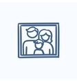 Family photo sketch icon vector image