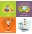 Obesity And Health Concept Icons Set vector image