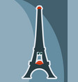 french eiffel tower character vector image