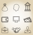 Outline business icon vector image