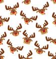 Seamless pattern with cartoon deers vector image