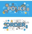 Police Banner Set vector image