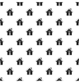 Snowy cottage pattern simple style vector image