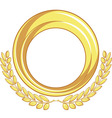 Golden Badge Ornament vector image