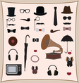 Hipster retro style set vector image