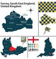 Surrey South East England vector image