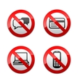 set prohibited signs - communication vector image