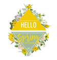 Spring Flowers and Leaves Background Graphic vector image vector image
