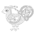 line art cock drawing for coloring book page joy vector image