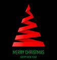 Christmas tree made of folded paper origami 02 vector image vector image