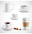 Realistic Coffee Set vector image