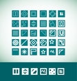 Simple flat geometric icon set vector image