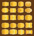 Vintage gold labels set vector image
