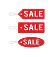 red leather sale price tags set vector image