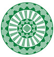 celtic mandala in white and green vector image