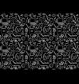 back to school seamless pattern on black vector image vector image