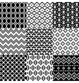 Seamless pixel patterns set vector image
