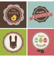 Happy Hipster Easter - set of icons and elements vector image