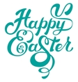 Happy easter Calligraphy lettering greeting text vector image