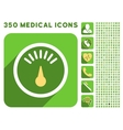Meter Icon and Medical Longshadow Icon Set vector image