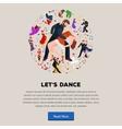 Couple dancing Kizomba in bright costumes vector image