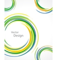 colorful rings vector image vector image