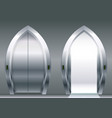 arched doors of the elevator vector image