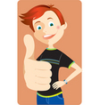 boy with thumb up vector image