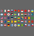 flags icons simple round flags of the countries vector image