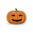 Halloween Smiling Pumpkin vector image