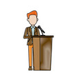 man in suit businessman or politician stands at vector image